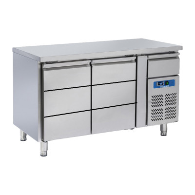 """Refrigerated counter with 6 drawers """"Coolhead"""" RC 2100"""