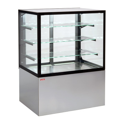 "Refrigerated showcase ""Unis Cool"" CUBE 1000 RAL 9006/B"