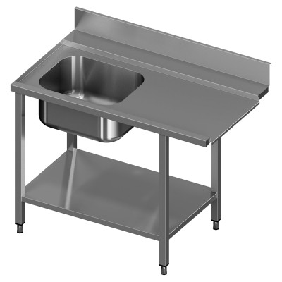 Table to Dishwasher With 1 Sink, Reinforced Shelf and Sliding Doors