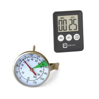 Thermometers, timers